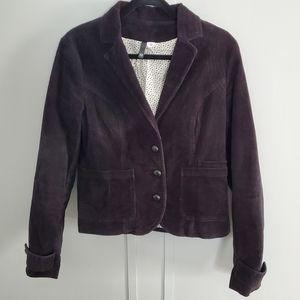 H&M Corduroy Button Up Blazer Jacket